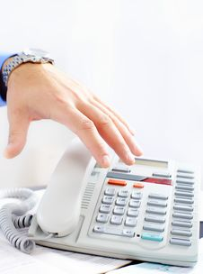 Free Businessman With Telephone Stock Photography - 17282462