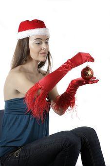 Free Santa Girl Stock Image - 17282881