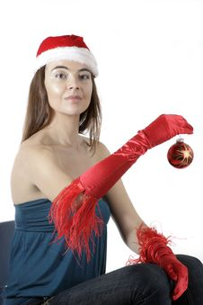 Free Santa Girl Royalty Free Stock Photography - 17282917
