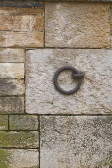 Free Mooring Ring On Embankment Of River Stock Photos - 17283823
