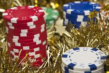 Free Casino Chips Close-up Royalty Free Stock Image - 17283986