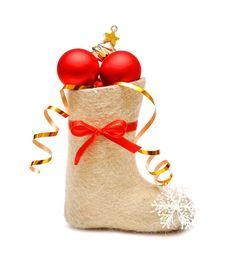 Free Children S Boot Full Gifts Stock Image - 17284441