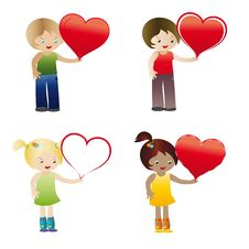 Kids With Heart Stock Images