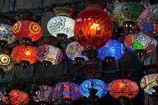 Free Glass Varicoloured Lamps Royalty Free Stock Photography - 17286077