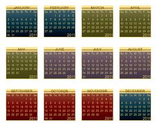 Free Calender For 2011 Stock Photos - 17286273
