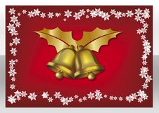 Bells + Snowflakes Royalty Free Stock Image