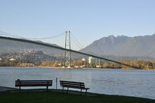 Free Lions Gate In Stanley Park Royalty Free Stock Photo - 17287055
