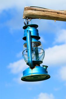 Free Blue Lantern On The Sky Royalty Free Stock Images - 17287439