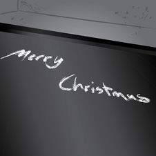 Merry Christmas Chalk Stock Photos