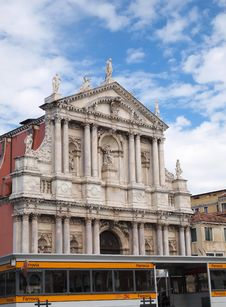 Free Port Ferrovia And Church In Venice Italy Stock Photo - 17288110