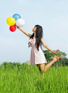 Free Happy Young Girl Stock Photo - 17288180