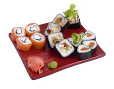 Free Rolled And Sushi Royalty Free Stock Photo - 17288285