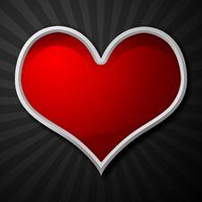 Free Shiny Metal Heart Stock Image - 17288381