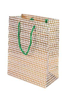 Free Luxury Paper Bag Over White Background Royalty Free Stock Image - 17288926