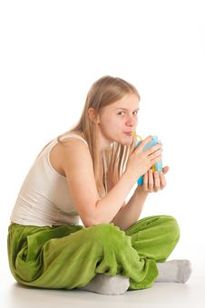 Free Woman With Juice Stock Images - 17289034