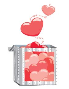 Free Hearts From The Box Stock Image - 17289221