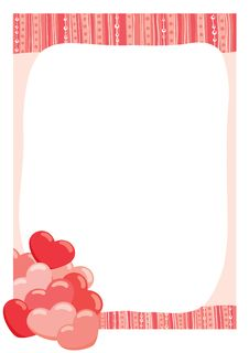Free Hearts In The Frame Royalty Free Stock Photography - 17289227