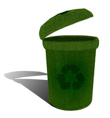 Free Green Ecological Recycle Bin Stock Images - 17289394