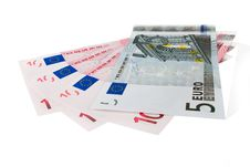 Euro Currency  Bank Notes Stock Photography