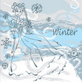 Free Winter Fashion Card With Girl Stock Photos - 17293263