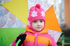 Free Small Girl In Pink Hat Stock Images - 17290204