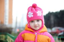 Free Small Girl In Pink Hat Royalty Free Stock Photos - 17290208