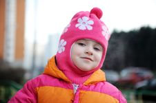 Free Small Girl In Pink Hat Stock Photography - 17290212