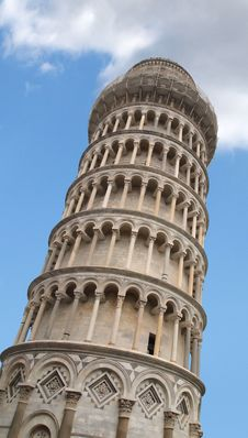 Free The Leaning Tower Of Pisa With Blue Sky Stock Images - 17290334