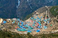 Free Sherpa Village Of Namche Bazar Royalty Free Stock Image - 17290446