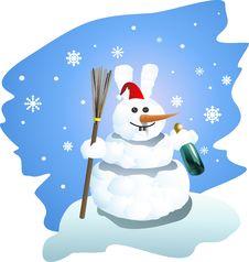 Free Snow Man-rabbit Stock Images - 17290544