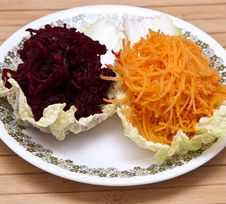Fresh Grated Carrots And Beets Royalty Free Stock Image
