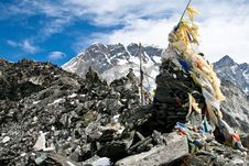 Free Prayer Flags On A Top Of Kongma La Pass Stock Photography - 17291122
