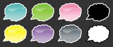 Free Cloud Speech Bubbles Royalty Free Stock Photography - 17291127