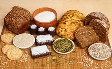 Free Bread, Pastry, Candies And Ingredients Royalty Free Stock Photography - 17291477