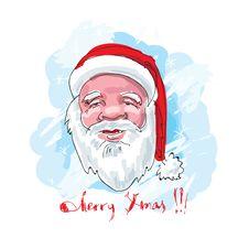 Santa. Hand Drawn. Royalty Free Stock Photography
