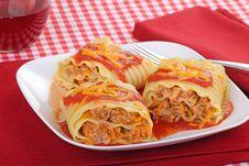 Free Lasagna Roll-ups Royalty Free Stock Photos - 17291668