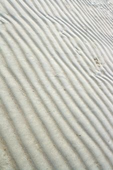 Sand Beach Ripple Stock Photography