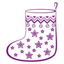 Christmas Stocking With Stars Royalty Free Stock Photo