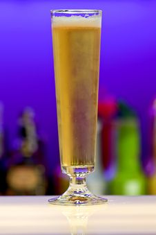 Free Glass Of Beer On Bar Stock Photos - 17292013