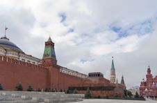 Mausoleum, The Kremlin Wall, The Pantheon Stock Images