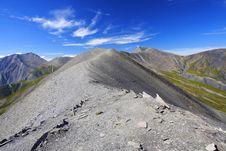 Mountain Ridge In Oisans, France Royalty Free Stock Photo