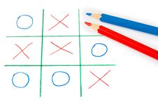 Free Noughts And Crosses Game Royalty Free Stock Photos - 17292418