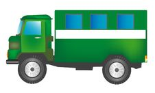 Free Green Cargo Car With Box Stock Photo - 17292900
