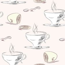 Free Tea Cups Seamless Pattern Stock Image - 17293251