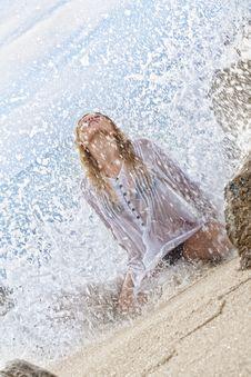 Splashed Royalty Free Stock Photos