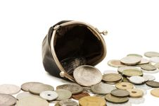 Free Old Coins Isolated On White Royalty Free Stock Photo - 17294505