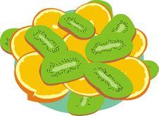 Free Kiwi And Orange Royalty Free Stock Photography - 17294607