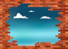 Free Brickwall Sky Stock Images - 17294704