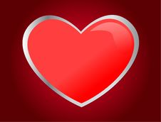 Free One Red Heart Stock Images - 17295764