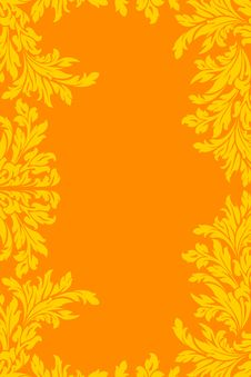 Free Yellow Orange Floral Frame Stock Image - 17295801